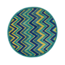 """Loloi Isabelle Rug  HIS07 Green / Multi - 3'-0"""" x 3'-0"""" Round"""