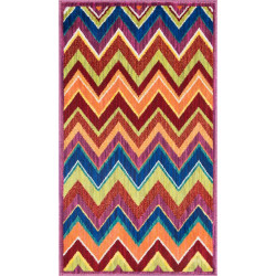 """Loloi Isabelle Rug  HIS07 Pink / Multi - 3'-0"""" x 3'-0"""" Round"""