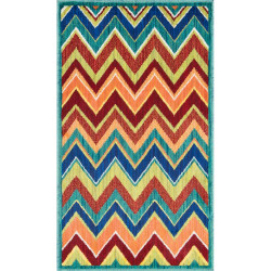 """Loloi Isabelle Rug  HIS07 Teal / Multi - 3'-0"""" x 3'-0"""" Round"""