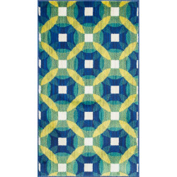 """Loloi Isabelle Rug  HIS09 Blue / Multi - 3'-0"""" x 3'-0"""" Round"""