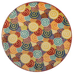 """Loloi Isabelle Rug  HIS11 Multi - 3'-0"""" x 3'-0"""" Round"""
