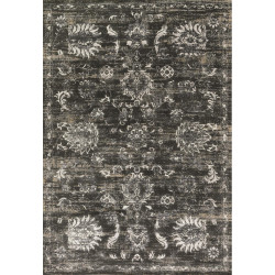"""Loloi Kingston Rug  KT-07 Charcoal / Silver - 7'-10"""" X 7'-10"""" Round"""