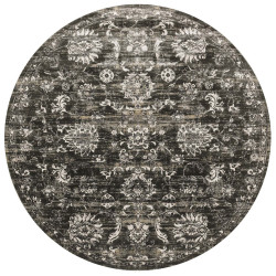 """Loloi Kingston Rug  KT-07 Charcoal / Silver - 9'-3"""" X 9'-3"""" Round"""