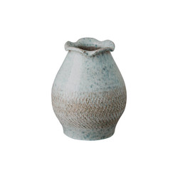 Short Scallop Vase - Coastal Splash