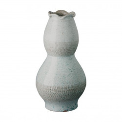 Tall Scallop Vase - Coastal Splash