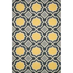 "Loloi Weston Rug  HWS01 Charcoal / Gold - 5'-0"" x 7'-6"""