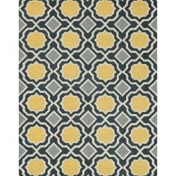"Loloi Weston Rug  HWS01 Charcoal / Gold - 7'-9"" x 9'-9"""