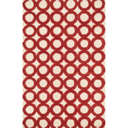 "Loloi Weston Rug  HWS08 Ivory / Red - 3'-6"" x 5'-6"""