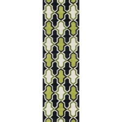 "Loloi Weston Rug  HWS10 Lime / Charcoal - 2'-3"" x 7'-6"""