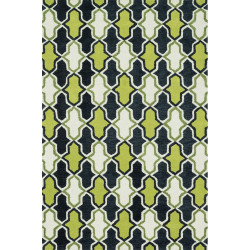 "Loloi Weston Rug  HWS10 Lime / Charcoal - 5'-0"" x 7'-6"""