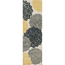 "Loloi Weston Rug  HWS14 Ivory / Charcoal - 2'-3"" x 7'-6"""