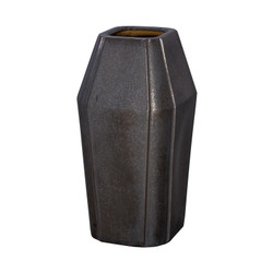 Quadrant Shoulder Vase - Gunmetal