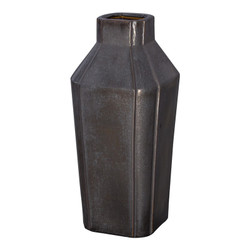 Quadrant Neck Vase - Gunmetal
