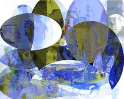 Art Classics Blue Oval Circle I