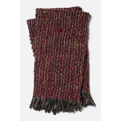 Loloi Rosa Throw T0008 Red Brown