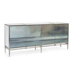 John Richard Slated Four-Door Credenza