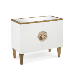 John Richard Tyrol Two-Door Side Cabinet in Ice White