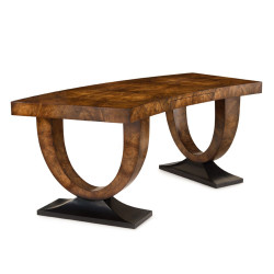 John Richard Curved Walnut Desk
