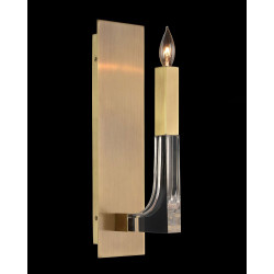 John Richard Acrylic and Brass Single-Light Wall Sconce