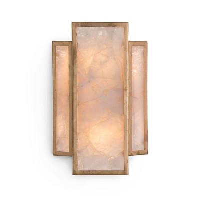 John Richard Calcite Panel Two-Light Wall Sconce