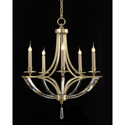 John Richard Bent-Crystal Five-Light Chandelier