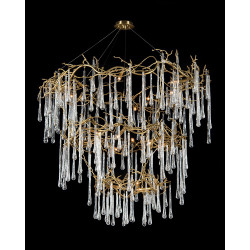 John Richard Branched Crystal Twenty-Light Chandelier