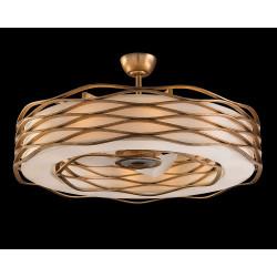John Richard Ribbons of Gold Twelve-Light Pendant with Fan