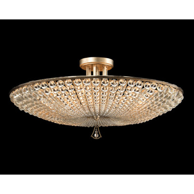 John Richard Beaded Crystal Six-Light Semiflush