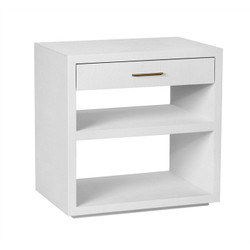 Livia Bedside Chest - White