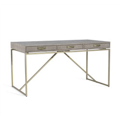 Atherton Shagreen Desk - Grey