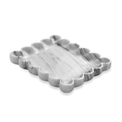 Bliss Scalloped Tray - Arabescato