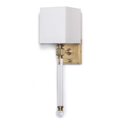 Regina Andrew Crystal Tail Sconce - Natural Brass