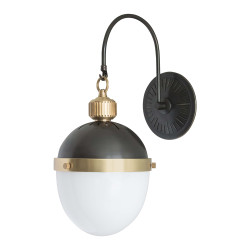Regina Andrew Otis Sconce - Blackened Brass and Natural Brass