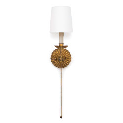 Regina Andrew Clove Sconce Single - Antique Gold Leaf