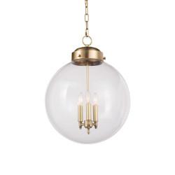 Regina Andrew Globe Pendant - Natural Brass