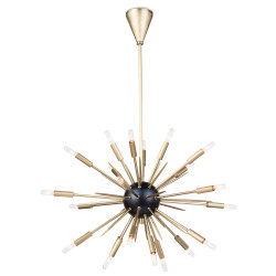 Regina Andrew Nebula Chandelier Small - Black and Natural Brass