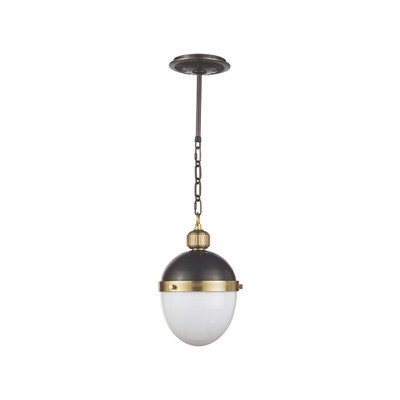 Regina Andrew Otis Pendant Small - Blackened and Natural Brass