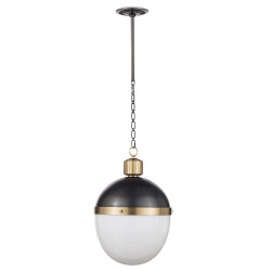 Regina Andrew Otis Pendant Large - Blackened and Natural Brass