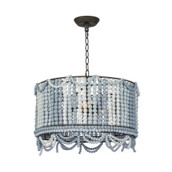 Regina Andrew Malibu Drum Pendant - Weathered Blue