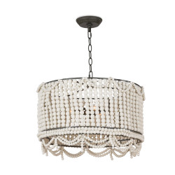 Regina Andrew Malibu Drum Pendant - Weathered White