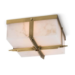 Regina Andrew Gotham Flush Mount - Natural Brass