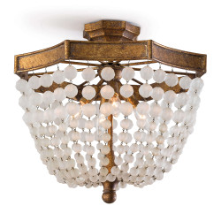 Regina Andrew Frosted Crystal Bead Semi Flush Mount