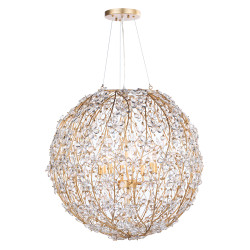 Regina Andrew Cheshire Chandelier Large - Gold Leaf