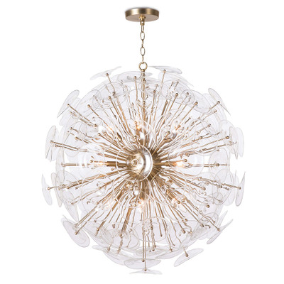 Regina Andrew Poppy Glass Chandelier - Clear