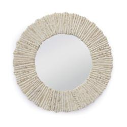 Regina Andrew Slate Mirror Round - Natural
