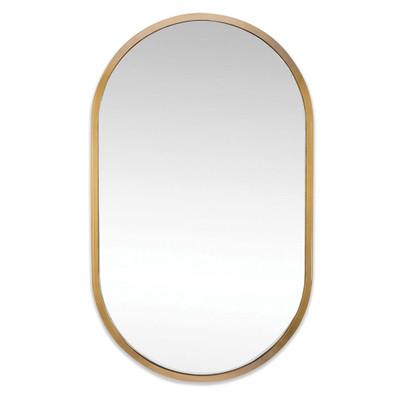 Regina Andrew Canal Mirror - Natural Brass