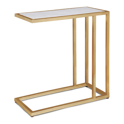 Regina Andrew Echelon Sofa Hugger Table - Natural Brass