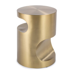 Regina Andrew Nathan Side Table - Brass