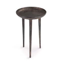 Regina Andrew Cruz Table - Blacken Zinc