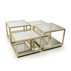 Regina Andrew Noel Coffee Table - Natural Brass - 4 Pieces